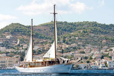 Anchor,Luxury Motor Sailer for Charter in Greece and Mediterranean